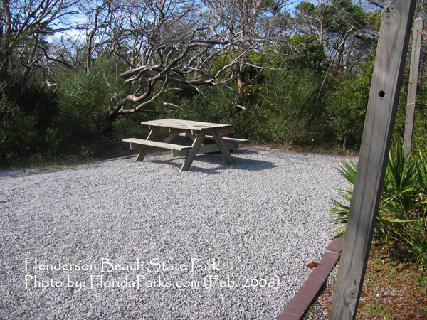 Henderson Beach State Park Campground Photo