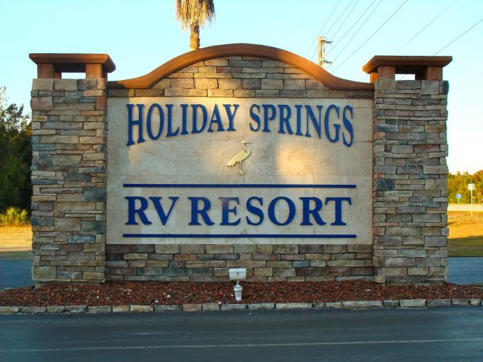 Holiday Springs Rv Resort Florida Campgrounds Florida