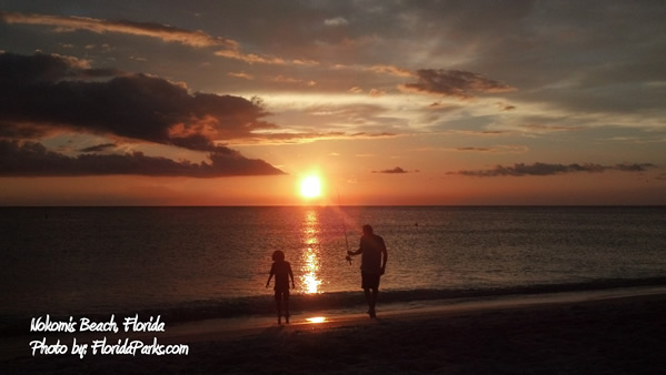 Sunset at Nokomis Beach Florida